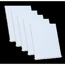 Грунтованный картон, 10х15 см, набор 5 шт, 3 мм, гладкая фактура, акрил, ROSA Studio