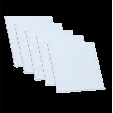 Грунтованный картон, 10х10 см, набор 5 шт, 3 мм, гладкая фактура, акрил, ROSA Studio