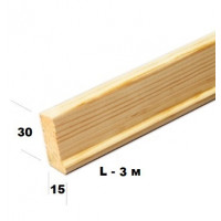Профиль для модульной планки (30х15) за 1 м/п