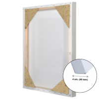 Холст 3D на подрамнике Лен 150х150 см ср зерно (глухой подрамник)