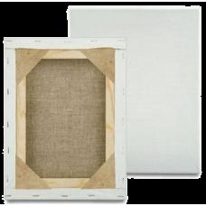 Холст на подрамнике Лен 150х150 см ср зерно (глухой подрамник)