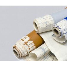 Холст в рулоне хлопок 1,5х10 м мелкое зерно, светло-серый ROSA Gallery